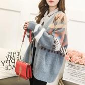 針織外套 初秋裝年新款韓版少女中長款毛衣外套學生加厚寬松針織衫開衫