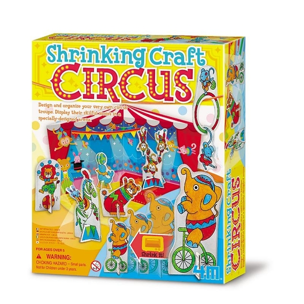 【4M】04621 美勞創意-可愛動物馬戲團 Shrinking Craft Circus