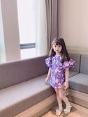 花朵裙子兒童女童碎花洋裝童裝泡泡袖韓版公主裙法式夏裝新款潮 幸福第一站
