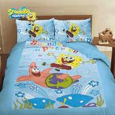 海綿寶寶 朋友 床包冬夏兩用被 單人三件組 台灣製