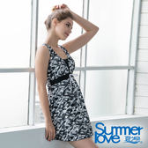 【Summer Love 夏之戀】加大碼連身帶裙泳裝(S19722)