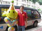 (YB-06)空飄氣球外送/生日佈置/生日快樂氣球串-情意花坊網路花店-大台北縣市專人外送