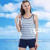 ☆小薇的店☆泳之美品牌【亮彩條紋款】時尚二件式泳裝特價650元NO.8312(M-XL)