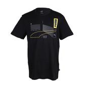 PUMA 基本系列反光短袖T恤 黑 581916-01