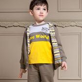【愛的世界】小浣熊純棉圓領長袖上衣/2~4歲-台灣製- ★秋冬上著