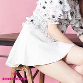 【SHOWCASE】自信簡約十片拼接短裙(白)