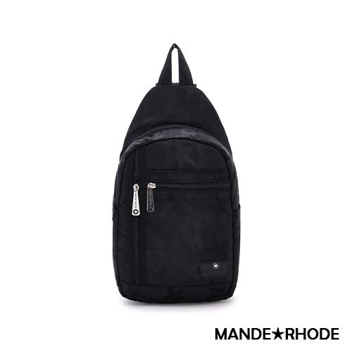 MANDE RHODE - 卡莫雷茲 - 美系潮男風格兩用後背胸包 - 迷彩黑【P322】