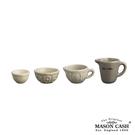 【MASON】BAKER LANE系列陶瓷量杯4件組(淺咖啡)