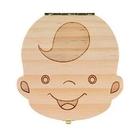乳牙盒 乳牙盒男孩女孩寶寶胎毛紀念品禮物實木牙齒收藏保存盒牙屋收納盒【快速出貨八折優惠】