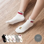 韓國襪子 史努比人物頭像中短襪【K0759】