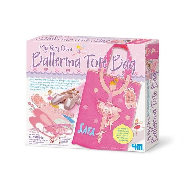 【4M】02759 美勞創意-芭蕾舞鞋提袋 My Very Own Ballerina Tote Bag