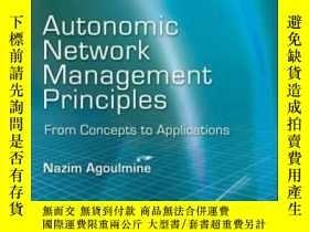 二手書博民逛書店Autonomic罕見Network Management Principles: From Concepts T