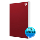 (2019新款)Seagate Backup Plus Slim 2TB USB3.0 2.5吋 外接硬碟 櫻桃紅 STHN2000403