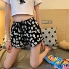熱賣運動短褲 短褲女夏季2021新款百搭寬鬆雛菊高腰顯瘦居家運動瑜伽睡褲潮【618 狂歡】