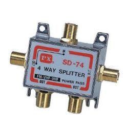 [中將3C]  PX大通 鍍金一入四出分配器 PX-GSD-74