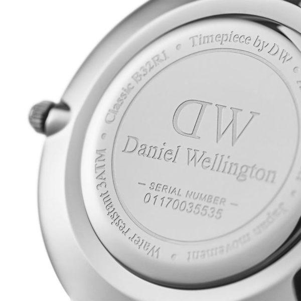 【時間道】DanielWellington‧DW 經典簡約米藍帶腕錶 黑面不鏽鋼帶32MM (DW00100162)免運費