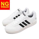 【9.5US-NG出清】adidas 休閒鞋 Hoops 2.0 白 黑 NEO 男鞋 復古籃球鞋 愛迪達 運動鞋 休閒鞋【ACS】