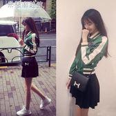 棒球外套棒球外套秋裝韓版棒球服飛行員夾克短款外套女春潮 米蘭潮鞋館