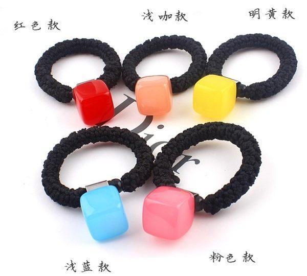 [協貿國際]  韓國髮飾方塊果凍糖果色髮圈 (5個價)