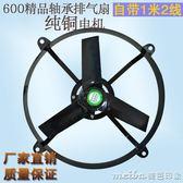 大功率抽風機圓形排氣扇24寸家用換氣扇油煙機廚房工業窗式排風扇igo 美芭