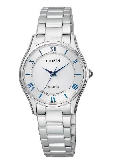 【分期0利率】星辰錶 CITIZEN 光動能 白 藍寶石水晶鏡面 2.5公分 全新原廠公司貨 EM0400-51B