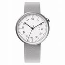 【萬年鐘錶】10:10 BY NENDO draftsman 001 策畫者系列 銀框/銀米蘭帶  錶徑35MM