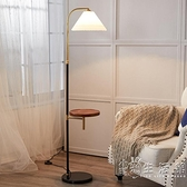 無線充電落地燈北歐網紅客廳臥室床頭燈美式簡約輕奢立式茶幾台燈 元旦節全館免運