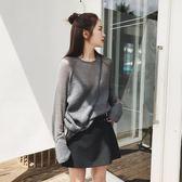 Princessxshop鏤空針織衫韓版毛衣寬鬆長袖上衣正韓國連線洋裝吊帶裙一字領露肩SW【DX257】