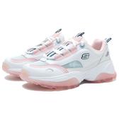SKECHERS 休閒鞋 KOZMIKS 1.0 白粉 藍LOGO 粉紅果凍底 老爹鞋 女(布魯克林) 88888407WMLT