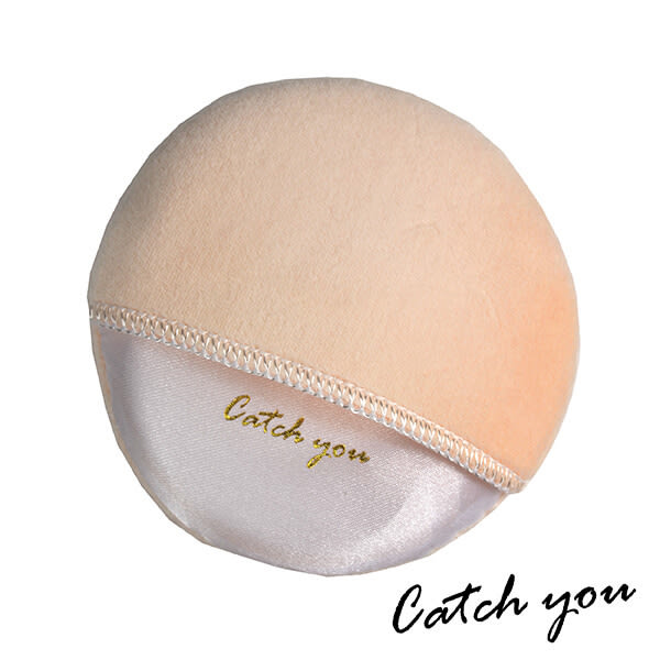 【CatchYou凱趣妮】高密度柔軟手插式蜜粉撲 1入 粉撲 化妝 上妝 彩妝