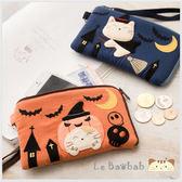 手機袋~Le Baobab日系貓咪包 啵啵貓萬聖節巫婆造型手機袋/拼布包包