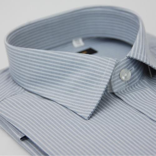 【金‧安德森】灰色白細紋窄版短袖襯衫