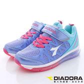 【DIADORA】義大利國寶童鞋-全氣墊寬楦慢跑鞋-DA7AKR3867-紫藍-中大童段(預)