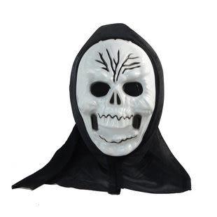 萬聖節服裝用品 成人/小孩紅黑披風+骷髏王單片鬼面具282g