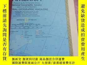 二手書博民逛書店National罕見Geographic國家地理雜誌地圖系列之1972年10月 South America 南美洲