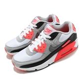 Nike 休閒鞋 Air Max 90 QS GS 白 橘紅 黑 女鞋 大童鞋 運動鞋 【ACS】 DC8334-100