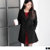 OB嚴選《EA1754-》毛呢質感翻領修身西裝外套/大衣.2色--適 S~L