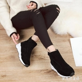 雪地靴女2019秋冬新款短筒面包鞋冬季加絨加厚棉鞋時尚學生短靴潮 YN3146『寶貝兒童裝』
