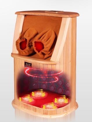 足浴桶  遠紅外線足浴桶加熱頻譜家用足療木桶汗蒸泡腳盆女全息能量養生桶  MKS霓裳細軟