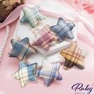 髮飾 格紋星星造型髮夾-Ruby s 露比午茶