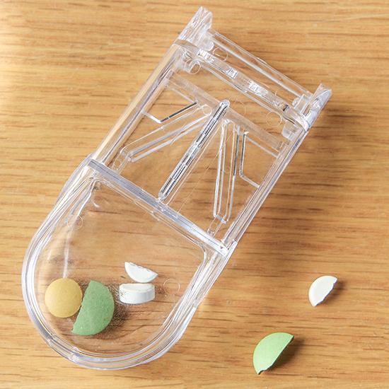 隨身便攜藥片分割器 藥盒 創意 分藥盒 切藥器 迷你 藥品收納  盒 分藥器【P104】MY COLOR