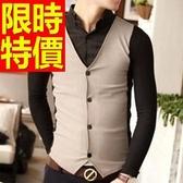 長袖毛衣質感造型-日系率性假兩件式男襯衫 3色59ac47【巴黎精品】
