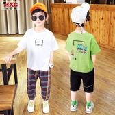 米西果男童短袖t恤純棉2020年夏季新款 童裝兒童體恤春秋打底衫潮 歐歐