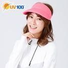 UV100 防曬 抗UV-輕便純色空心帽-可捲收