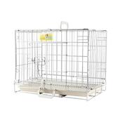 樂佳狗籠子小型犬中型犬大型犬兔籠泰迪金毛寵物鍍鉻不銹鋼折疊籠