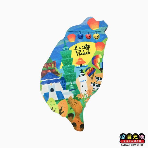 【收藏天地】寶島造型木質冰箱貼*台灣 ∕ 磁鐵 觀光 禮品 愛國 景點 手信