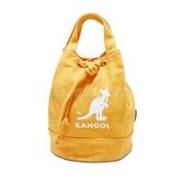 Kangol 托特包 Tote Bag 黃 白 女款 袋鼠 抽繩設計 水桶包 側背包【PUMP306】 6925300760