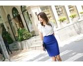 (1462)-【現貨】2019夏季韓版包臀高腰中長裙後開叉半身裙百搭職業一步裙OL西裝裙