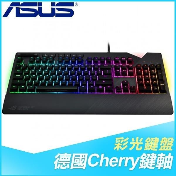 【南紡購物中心】ASUS 華碩 ROG Strix Flare 紅軸 RGB 機械式鍵盤《中文版》