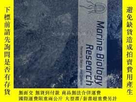 二手書博民逛書店Marine罕見Biology Research ( journal) 01 2018 海洋生物學研究學術期刊
